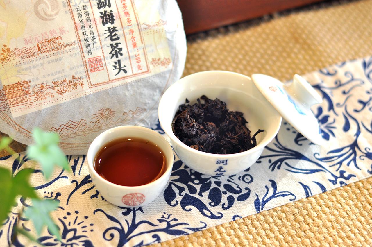 润元昌2015年勐海老茶头熟饼普洱熟茶_06