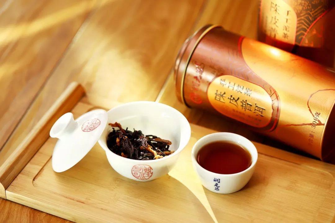 润元昌2017年陈皮普洱手工沱茶陈皮普洱茶
