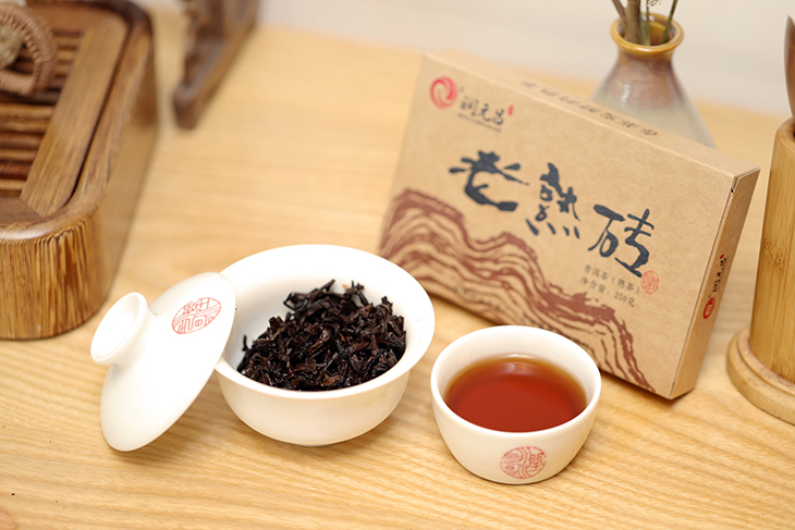 润元昌老熟砖茶图片