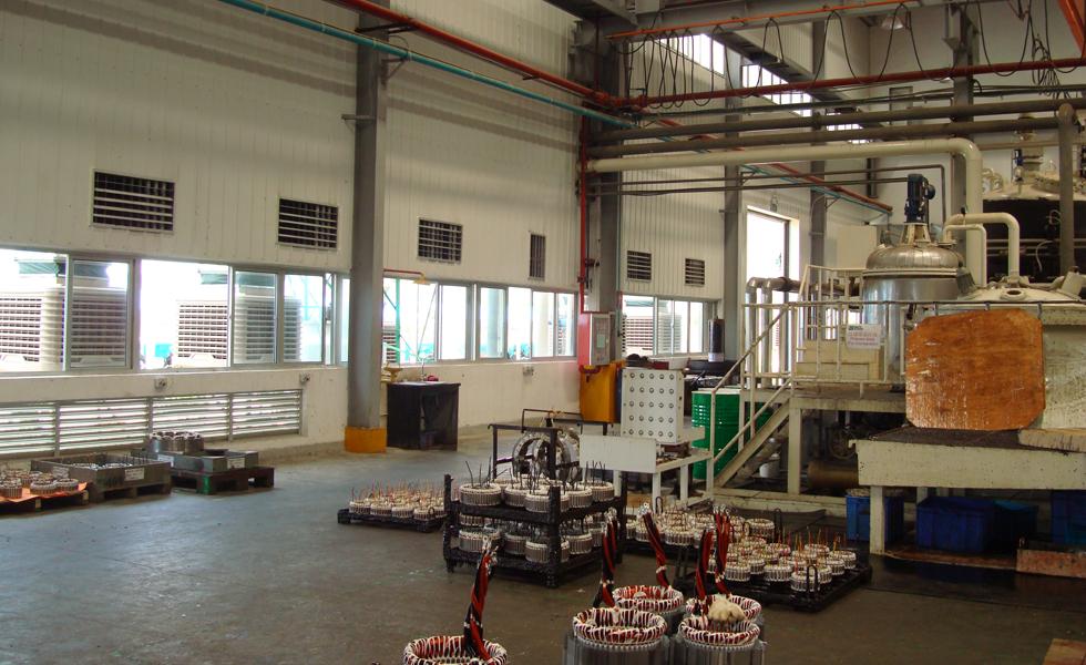 钢结构厂房降温安装环保空调设备效果图片
