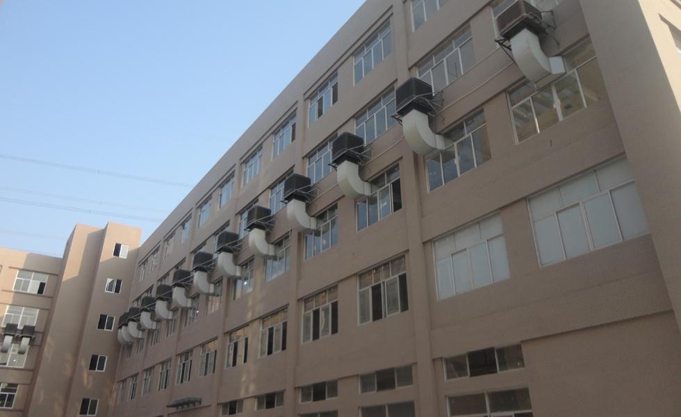 服装厂通风降温方案设计安装工程效果图