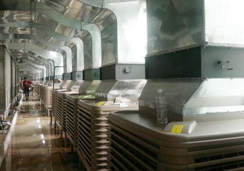 塑胶厂通风降温方案设计安装工程效果图片