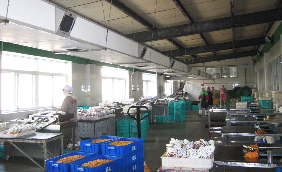 食品厂通风降温方案设计安装工程效果图