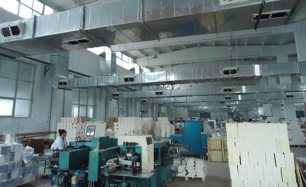 印刷厂通风降温方案设计安装工程效果图