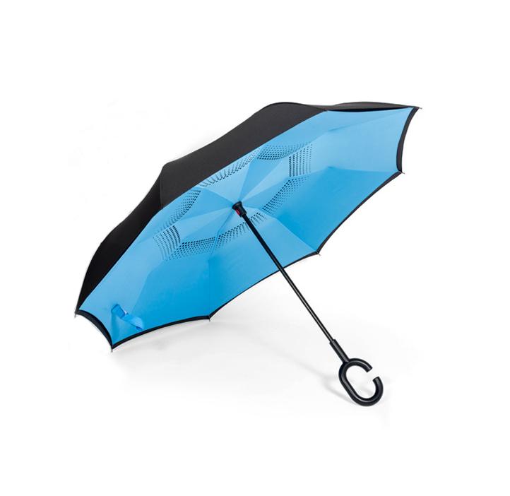 蓝色反向伞