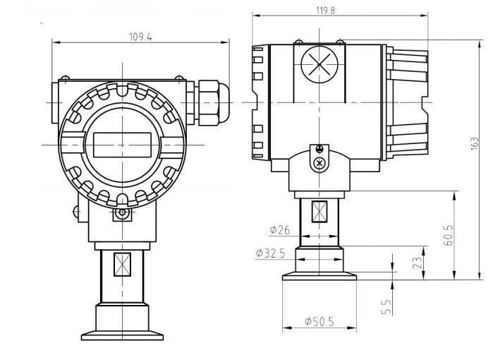 卫生型压力变送器接线图2088
