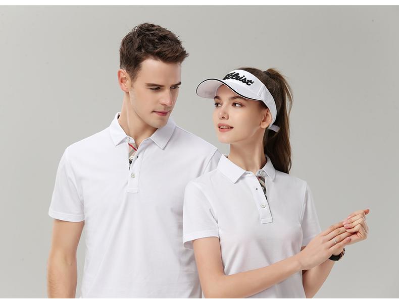 企业公司文化衫印字logo男女员工夏装短袖工衣翻领polo工作服定做8
