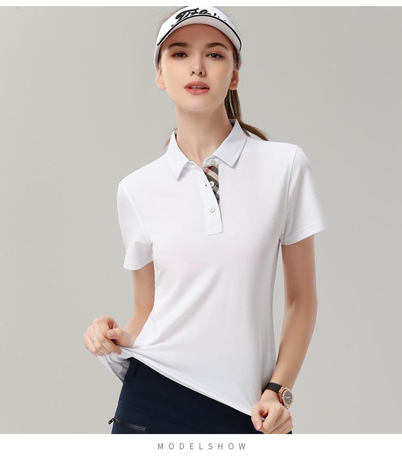 企业公司文化衫印字logo男女员工夏装短袖工衣翻领polo工作服定做9