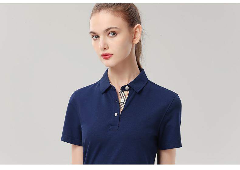 企业公司文化衫印字logo男女员工夏装短袖工衣翻领polo工作服定做10