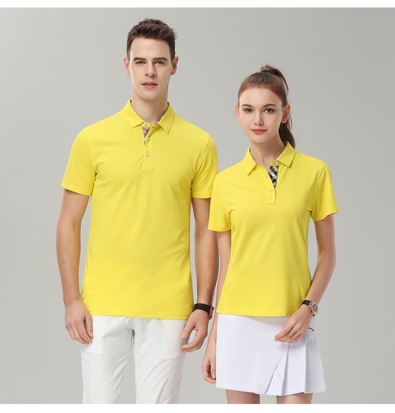 企业公司文化衫印字logo男女员工夏装短袖工衣翻领polo工作服定做14