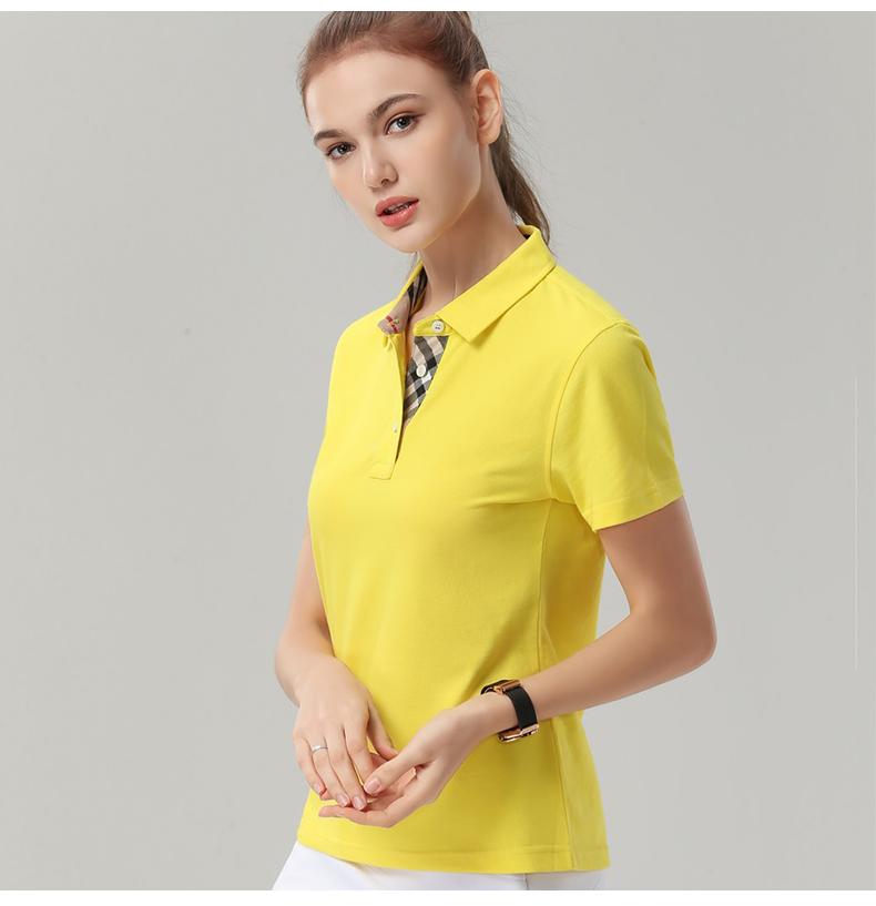企业公司文化衫印字logo男女员工夏装短袖工衣翻领polo工作服定做15