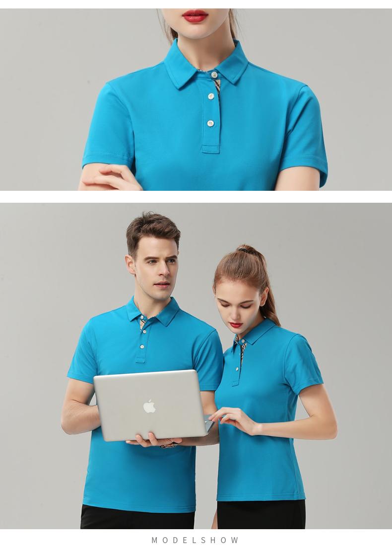 企业公司文化衫印字logo男女员工夏装短袖工衣翻领polo工作服定做18