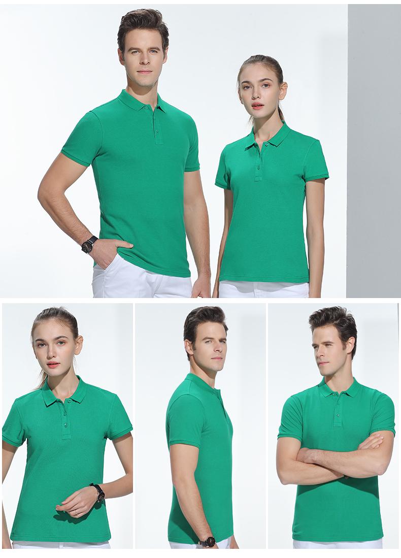 短袖POLO衫纯棉夏季车间纯色半袖耐磨工作服印绣logo16