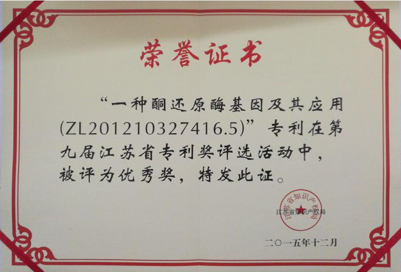 重要奖项-4.32015第九届江苏省专利优秀奖