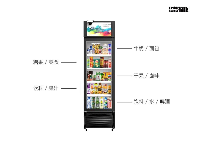福柜智能零售柜实现多品类配置
