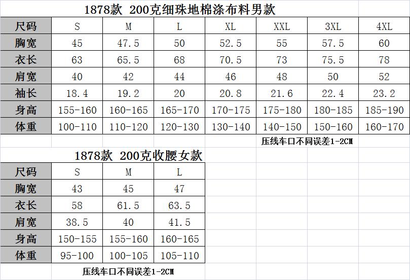 1878尺码表