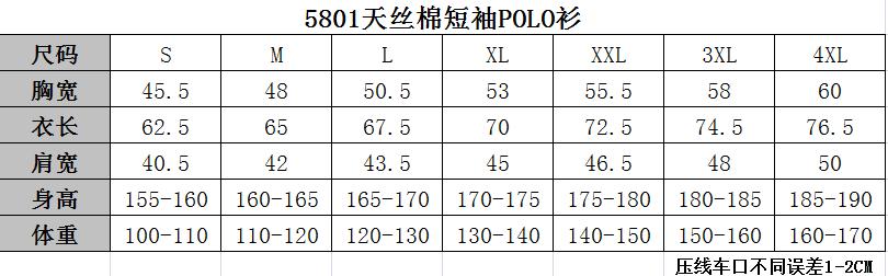 5801规格表