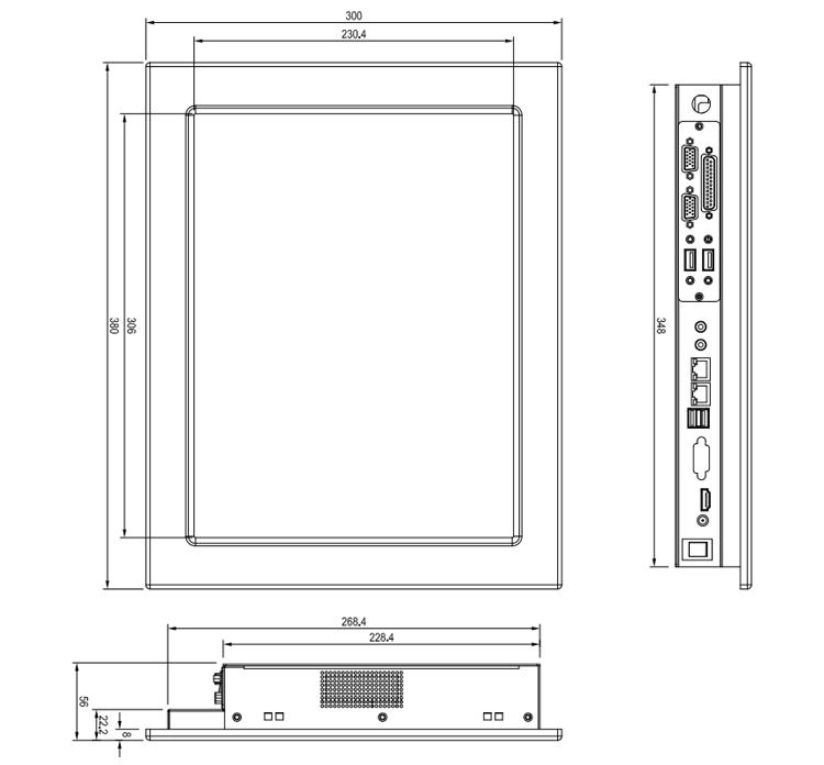 415寸嵌入式工业平板电脑规格数据