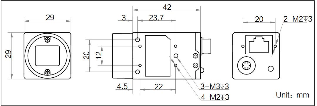 MV-CE120-10GMMV-CE120-10GC外形尺寸