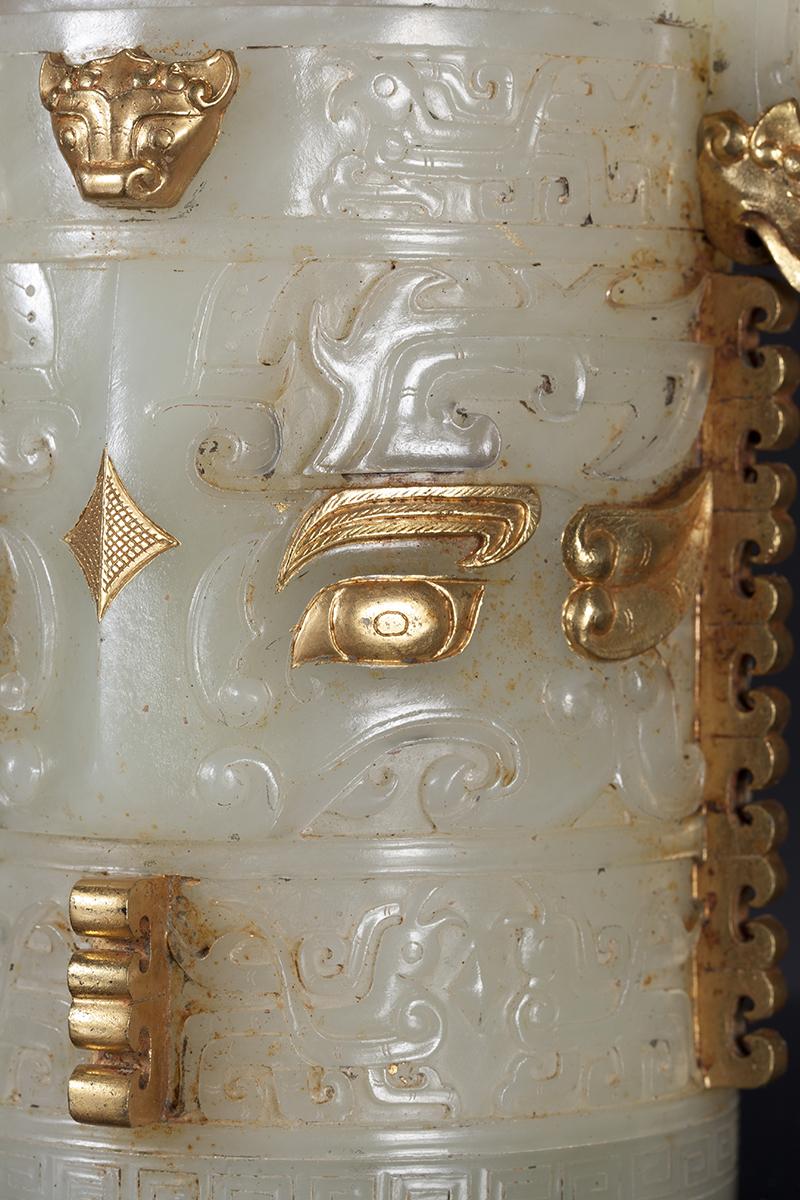 金鑲玉提梁卣2