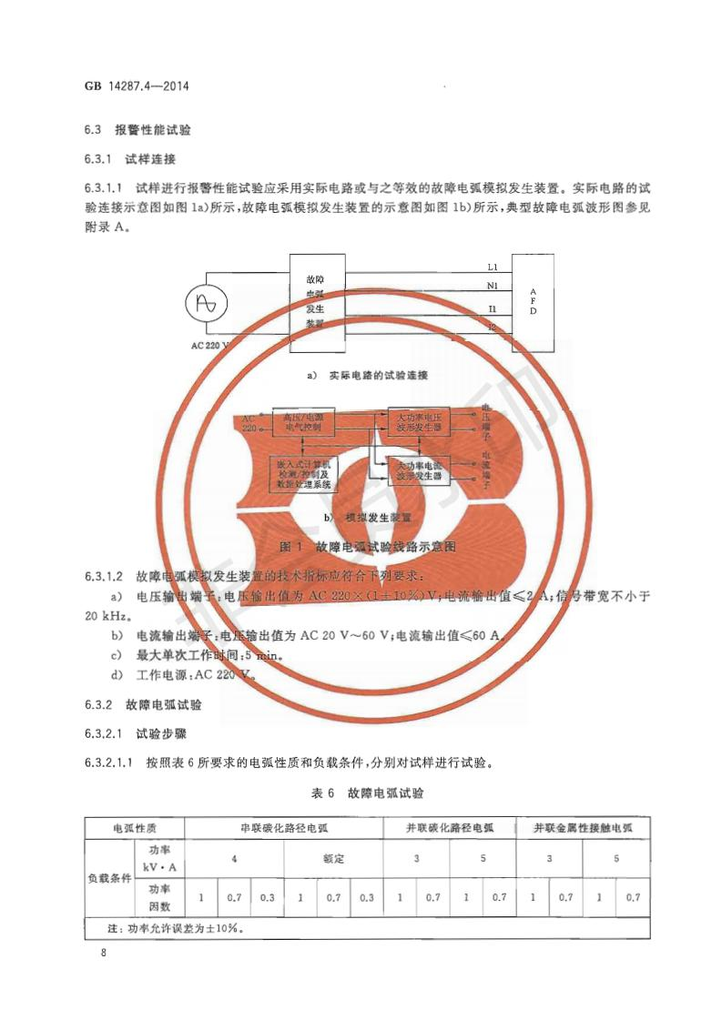 GB14287.4-2014电气火灾监控系统第4部分:故障电弧探测器_11