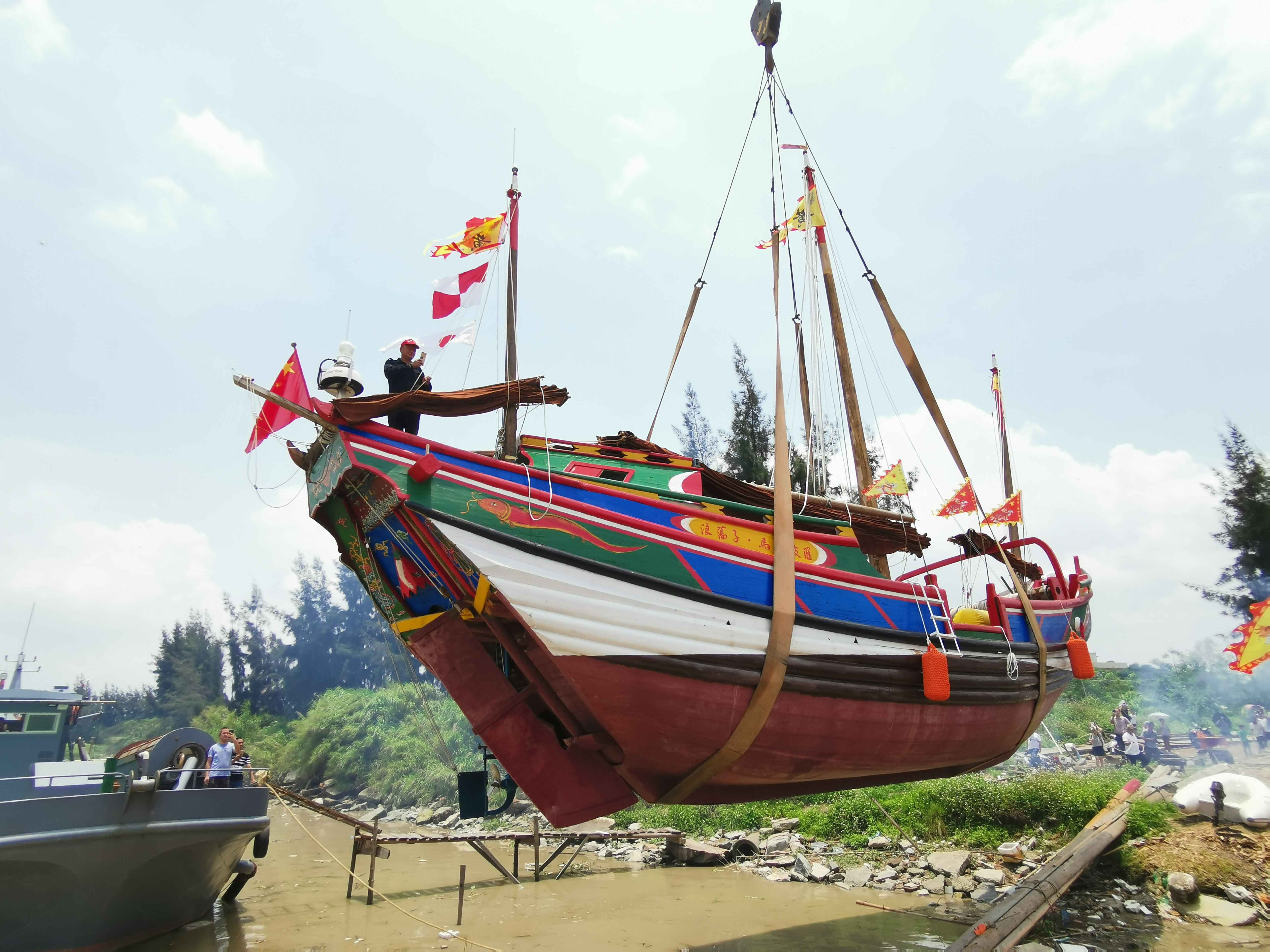 翘首以盼,中式帆船今日下水,即将重走海上丝绸之路!-27