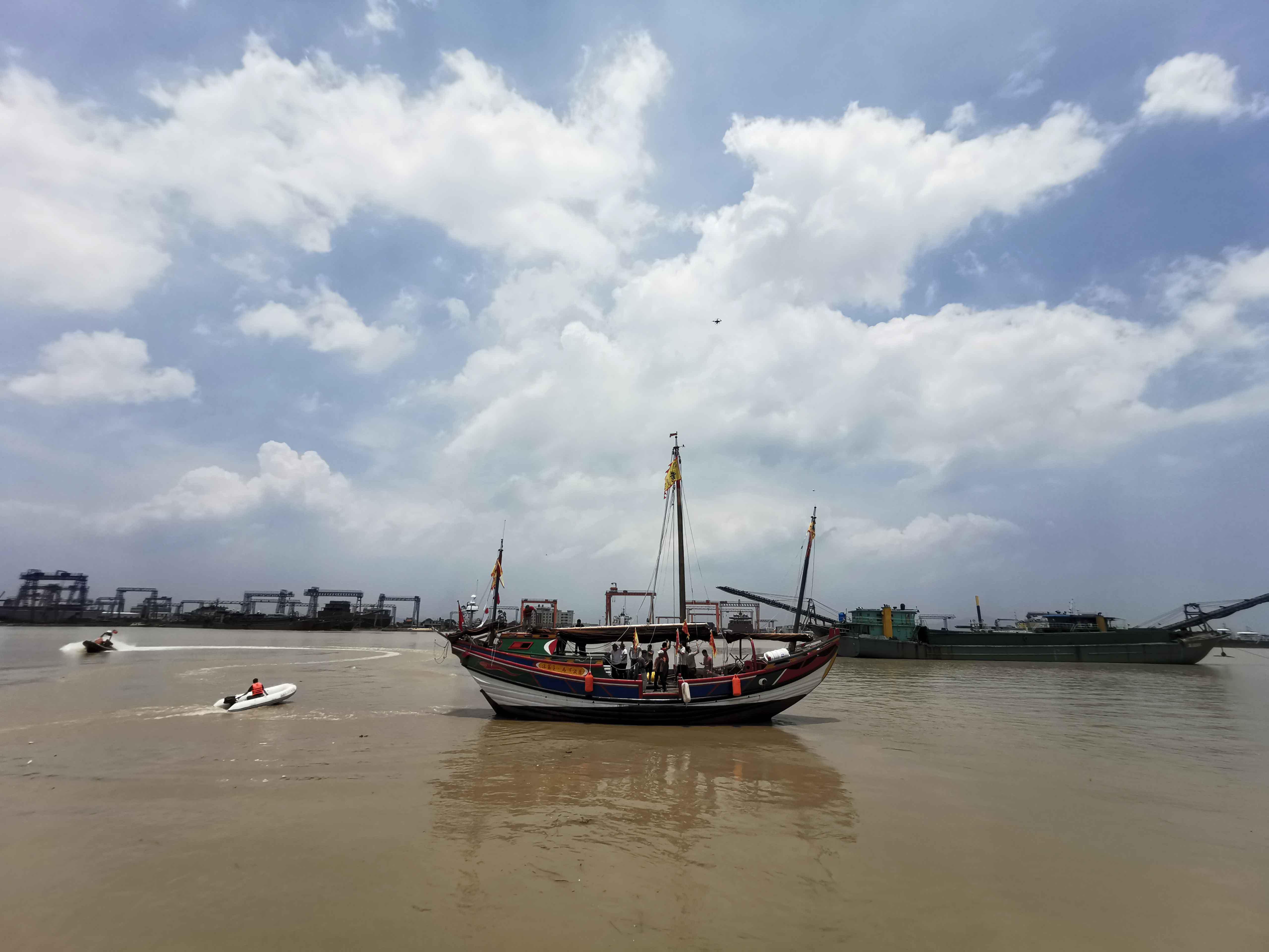 翘首以盼,中式帆船今日下水,即将重走海上丝绸之路!-31