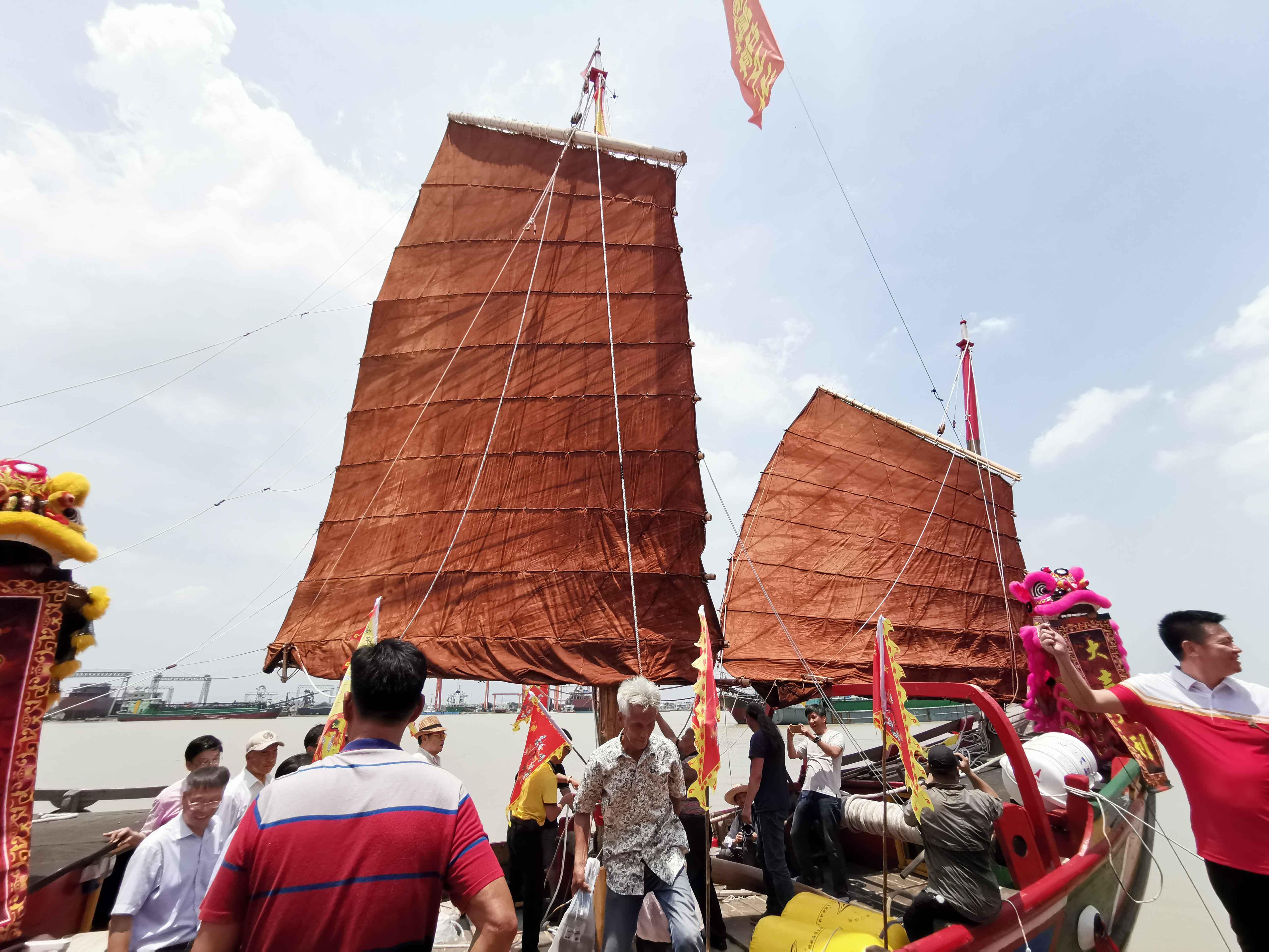 翘首以盼,中式帆船今日下水,即将重走海上丝绸之路!-38