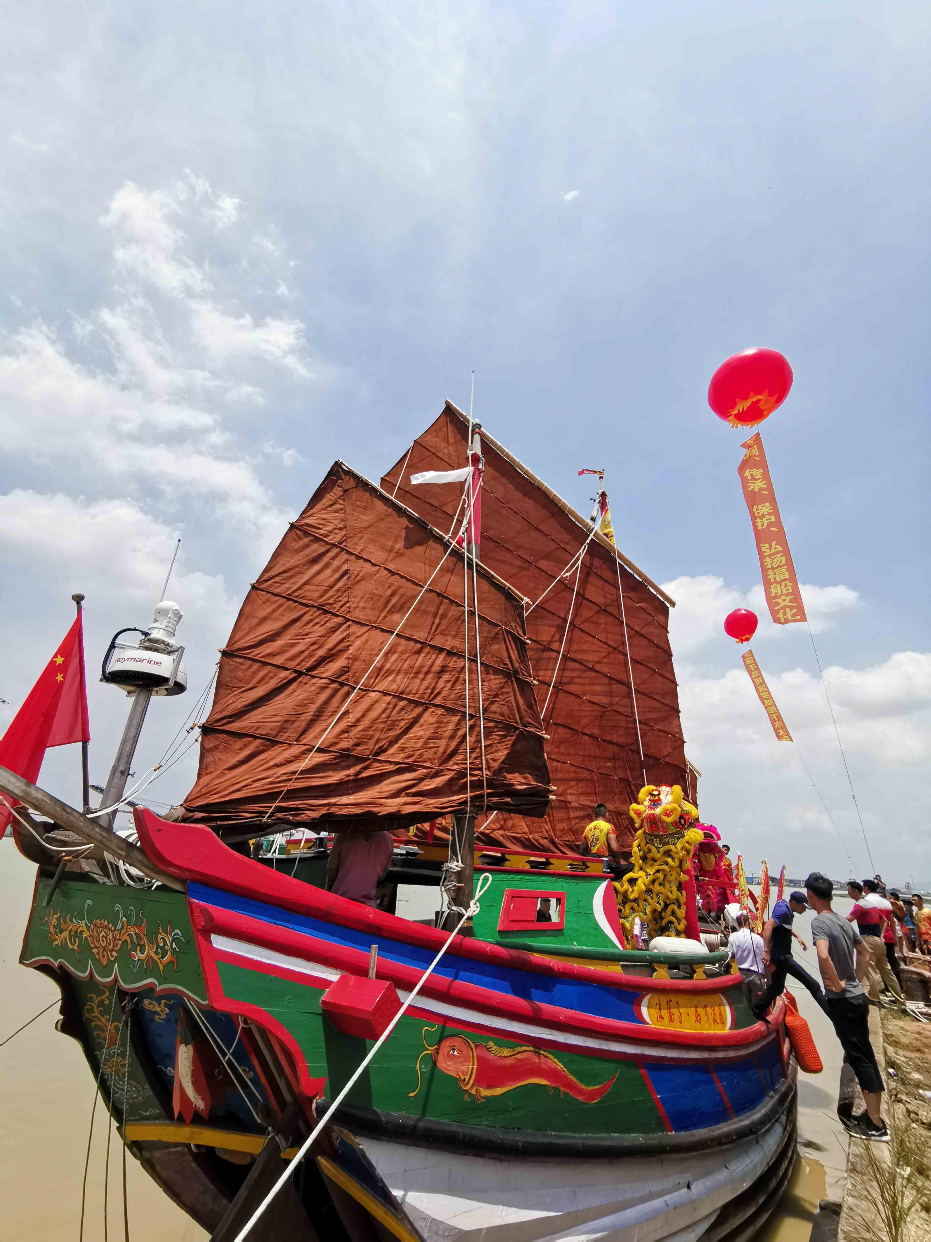 翘首以盼,中式帆船今日下水,即将重走海上丝绸之路!-39