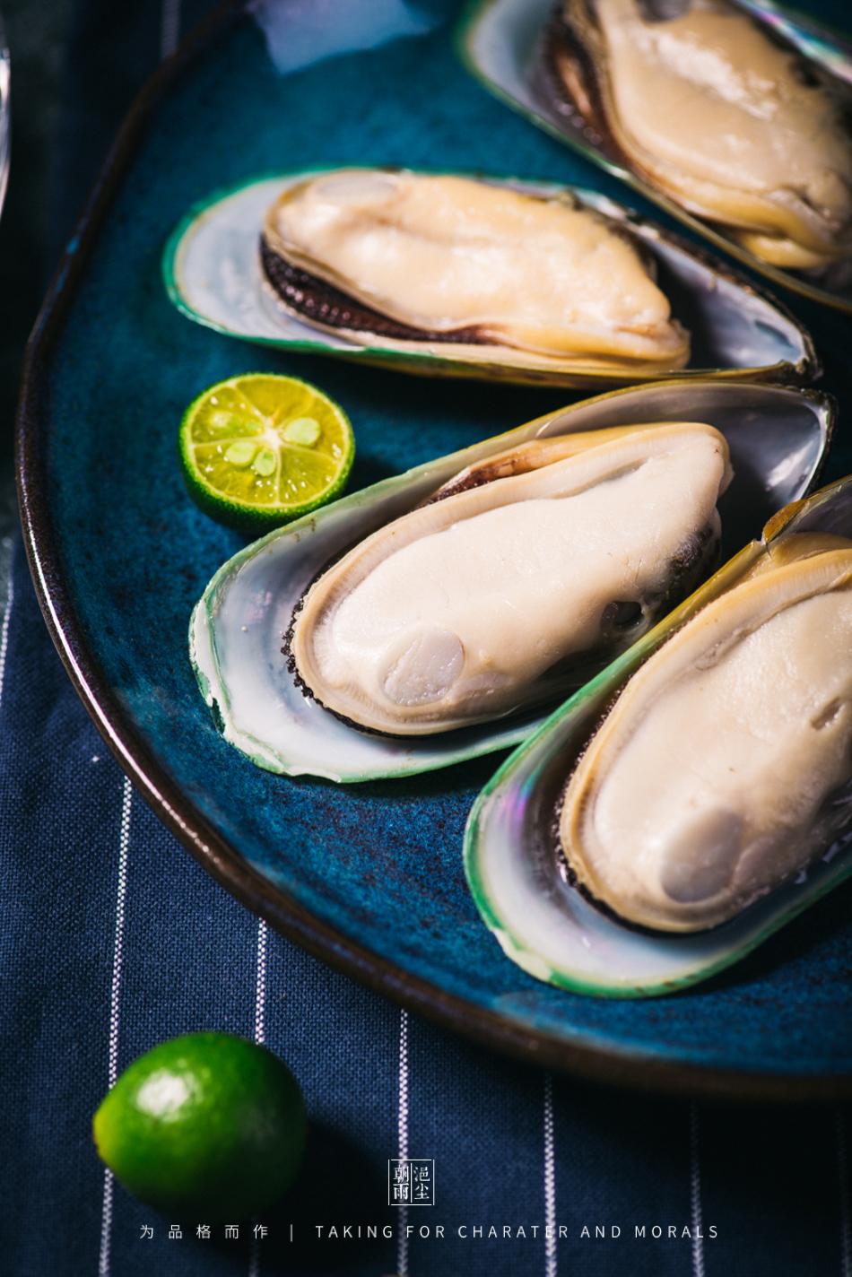 食品摄影-新西兰冷冻半壳青口贝2