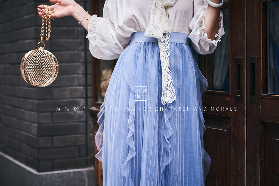 女装摄影-蓝色仙女裙套装03