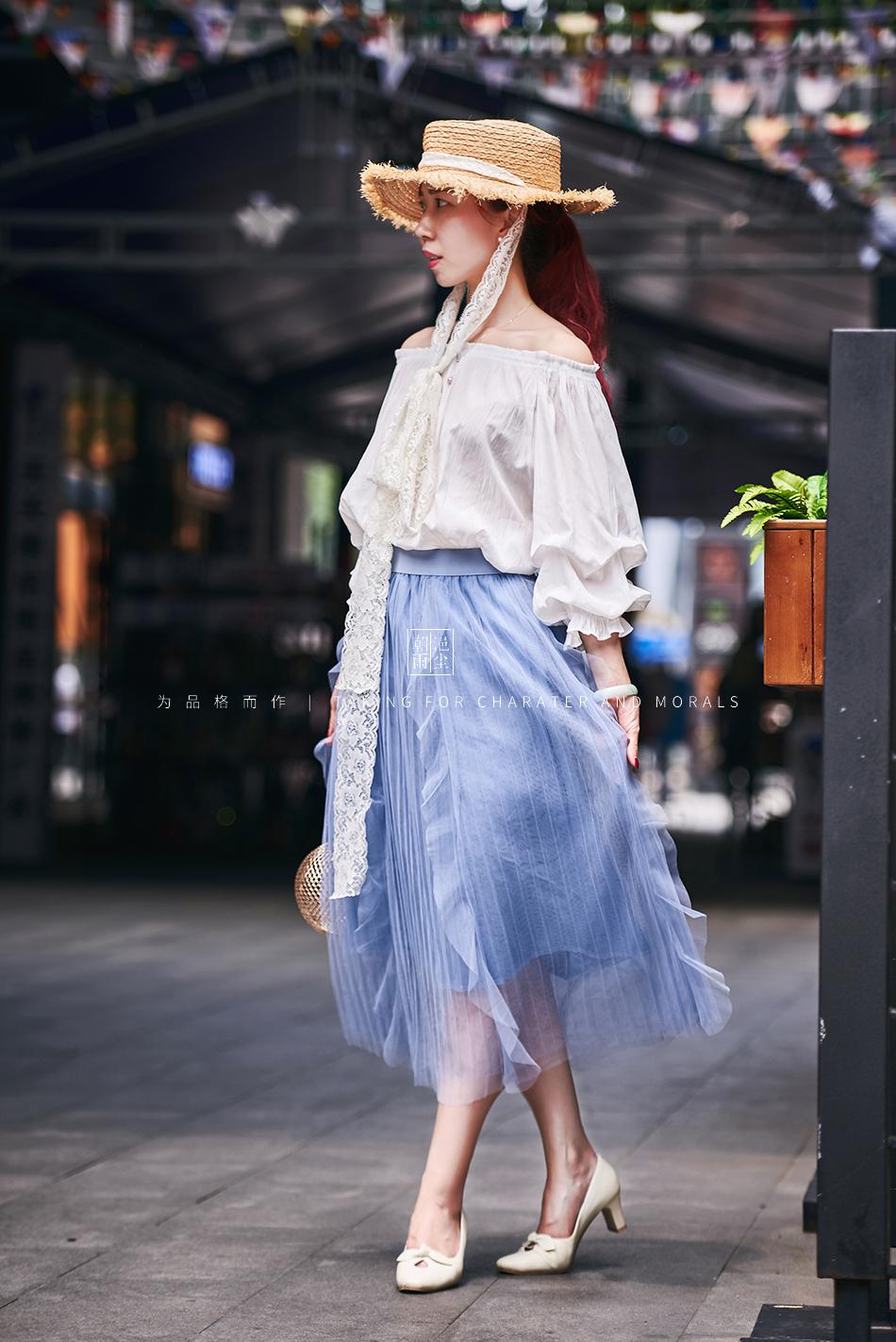 女装摄影-蓝色仙女裙套装05