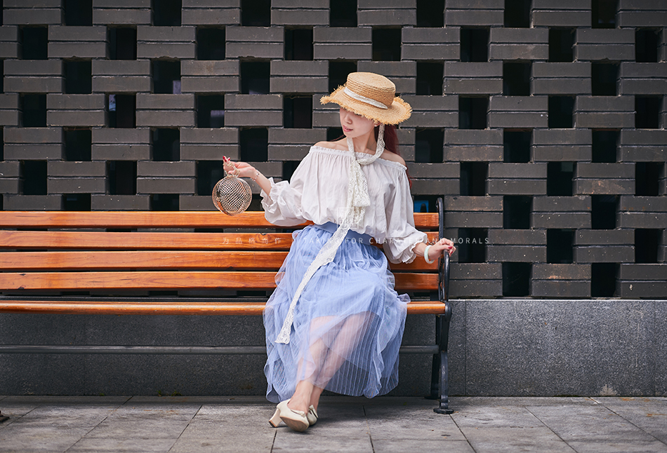 女装摄影-蓝色仙女裙套装07