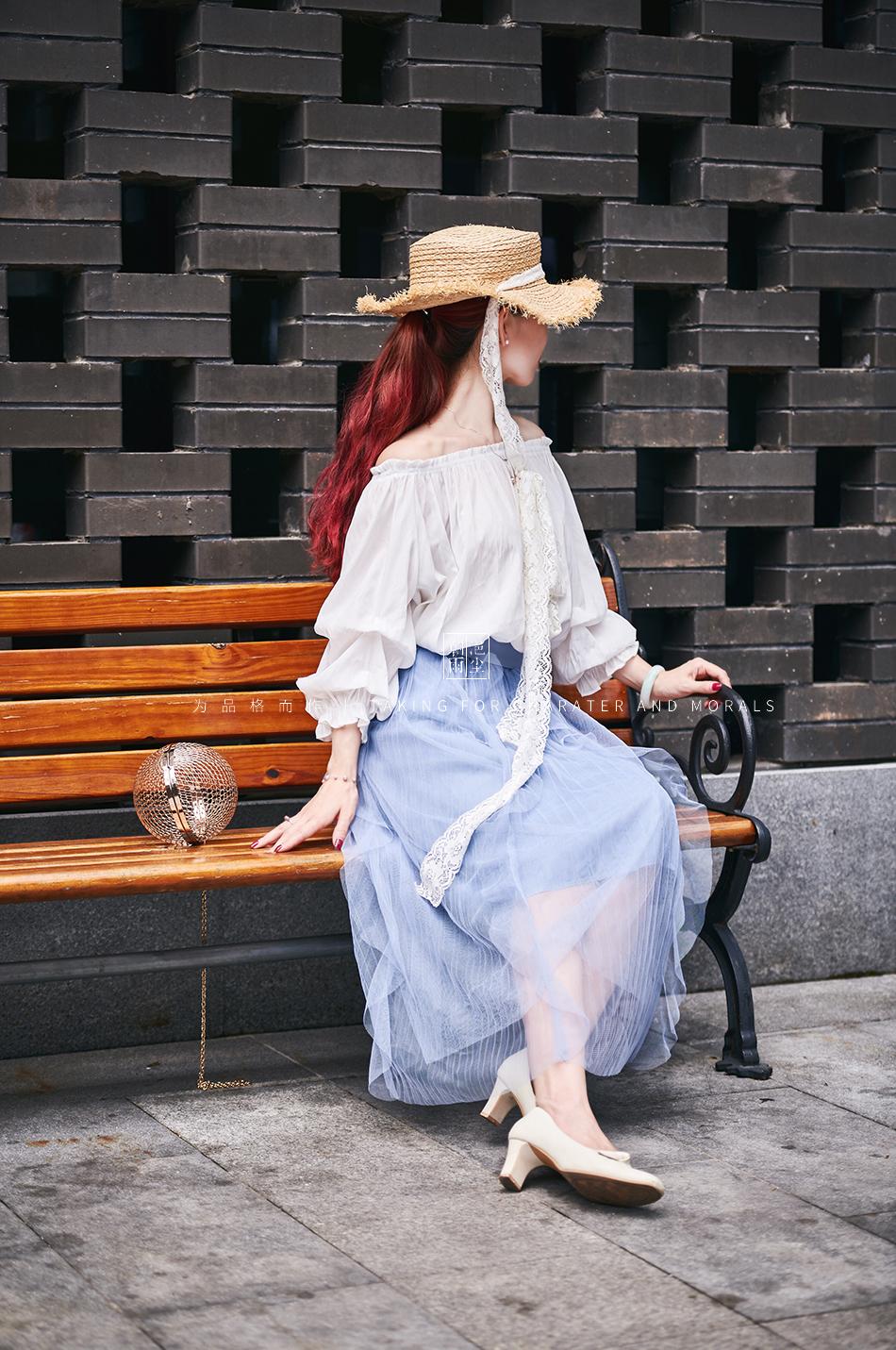 女装摄影-蓝色仙女裙套装08