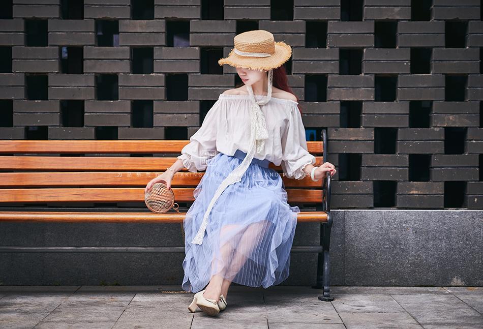 女装摄影-蓝色仙女裙套装09