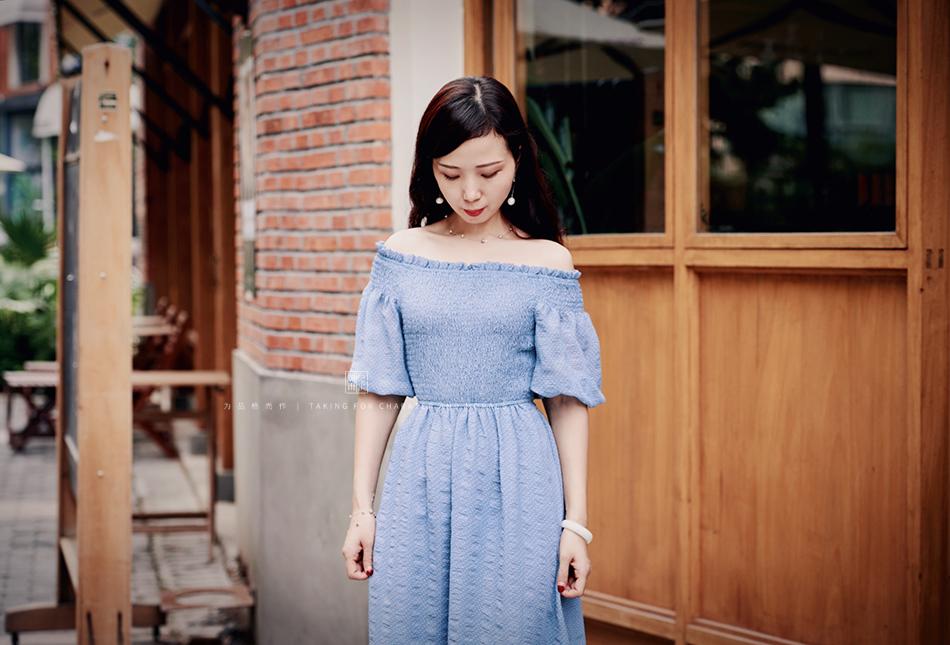 女装摄影-蓝色气质仙女长裙2