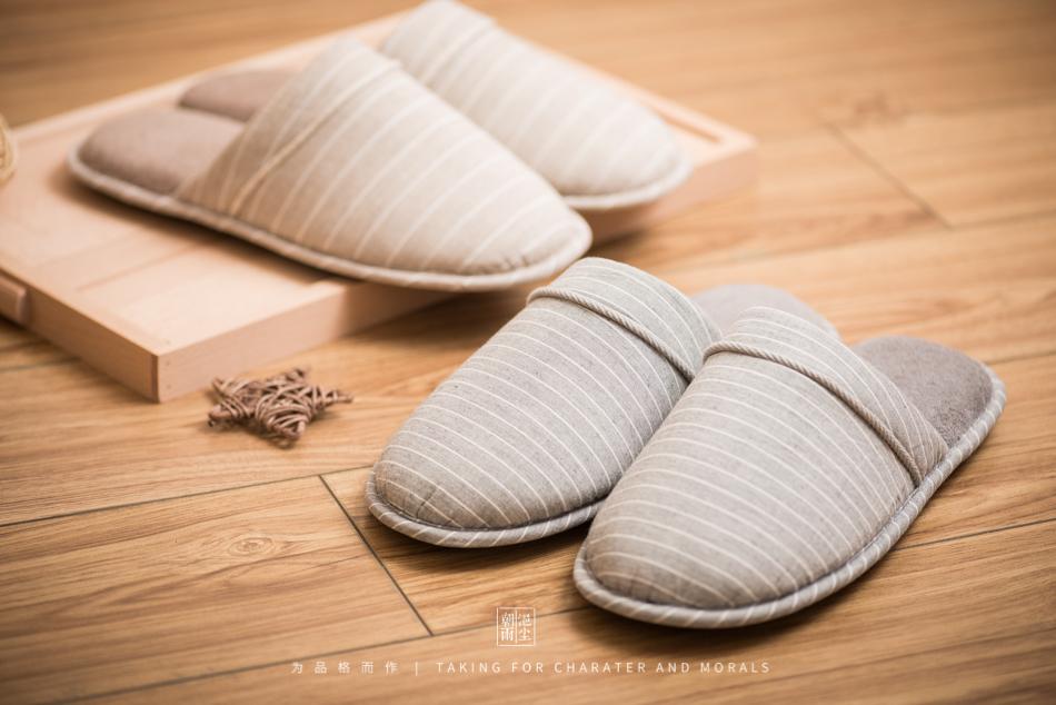 鞋帽摄影-小景家具棉拖鞋1