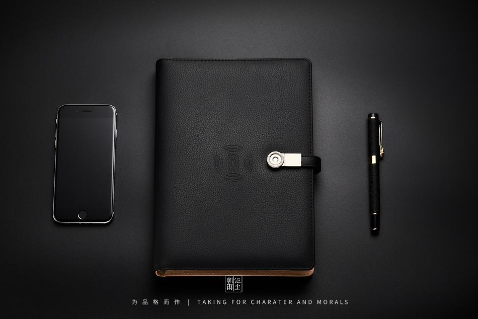 文具摄影-多功能带U盘无线充电笔记本3