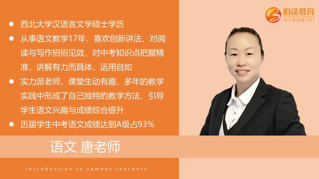 初中语文一对一辅导