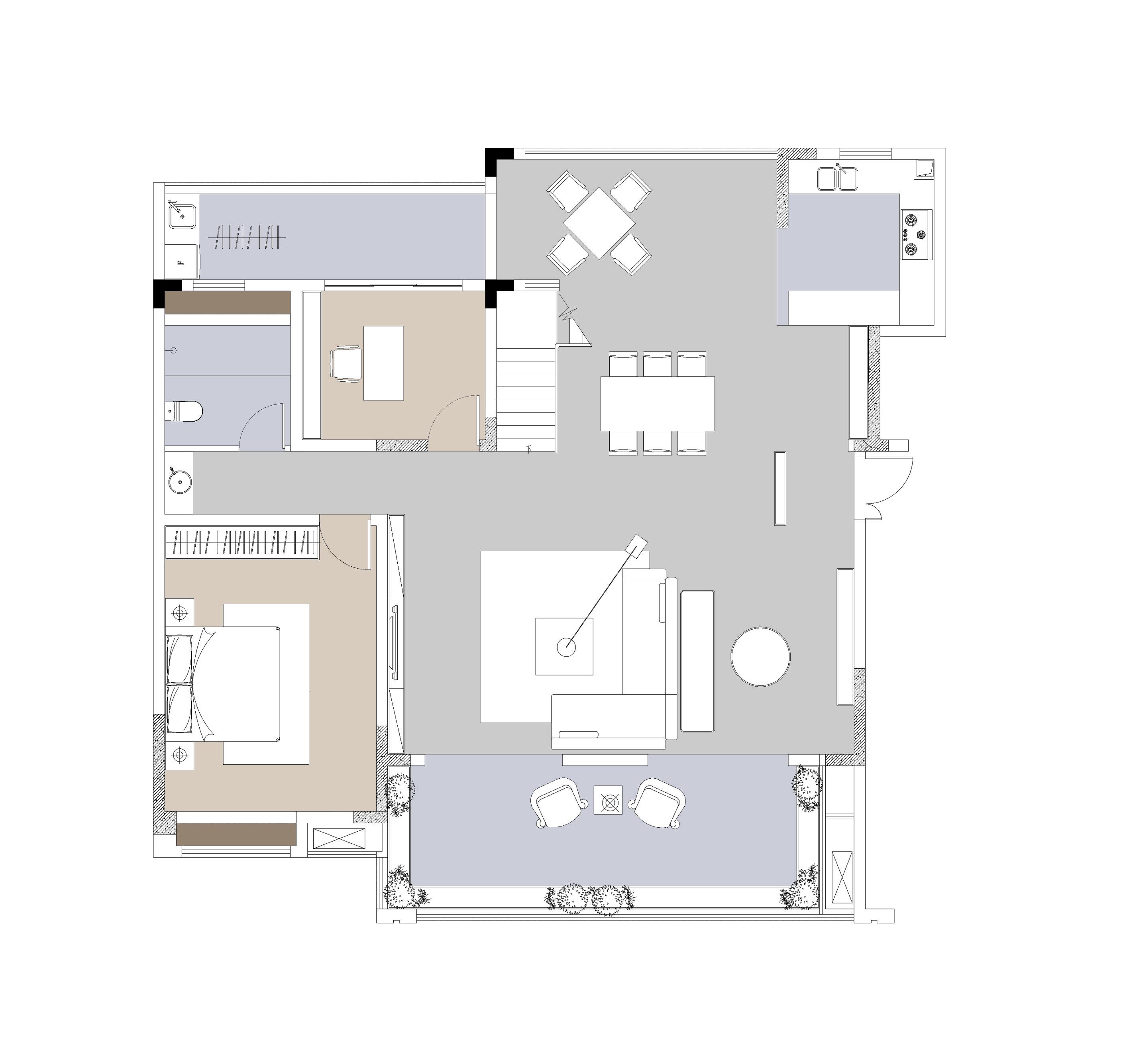 山河原著洋房B5130复式-一楼Model