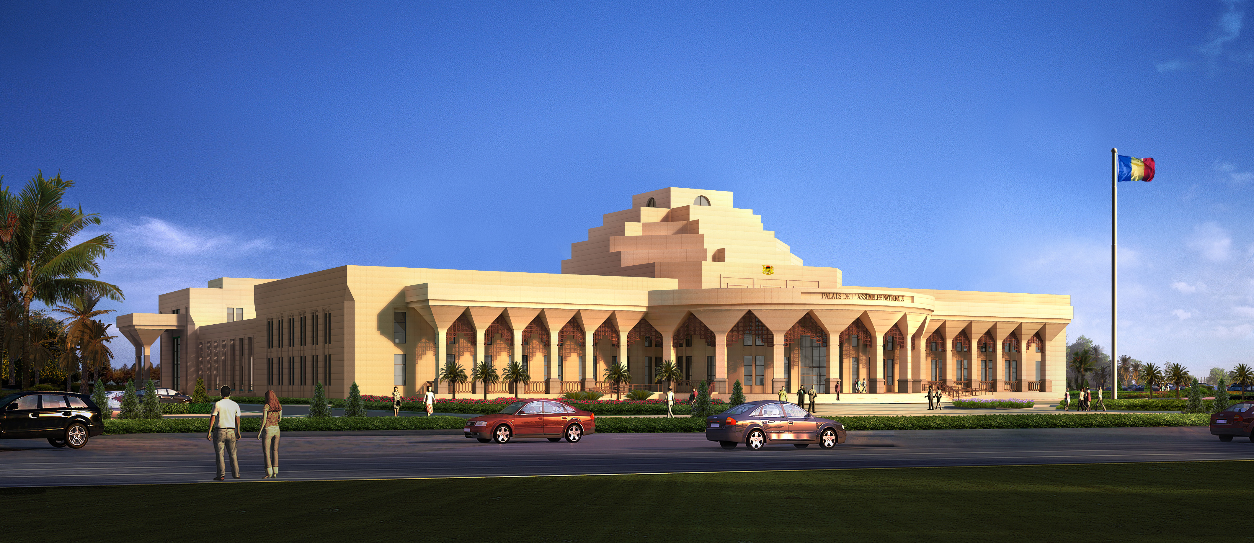 Chad Parliament Building renderings