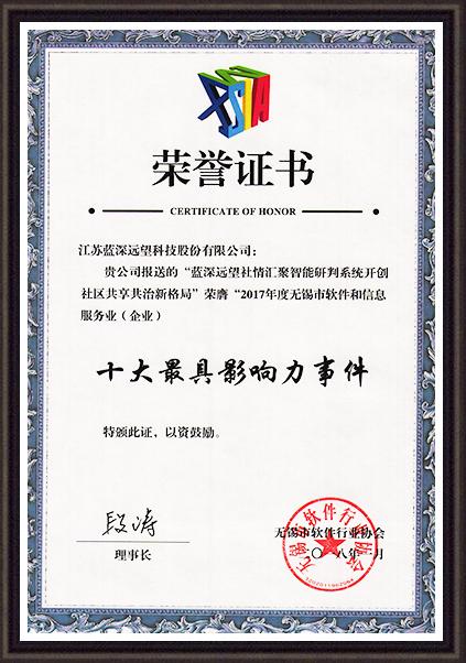 网格化社会治理获奖证书
