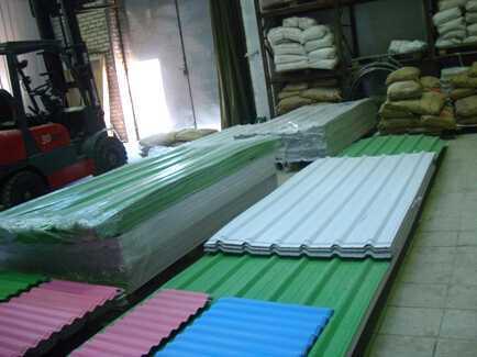 PVC波浪板生产线2