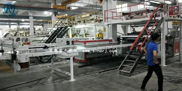 PVC石塑地板生产线,SPC地板设备1