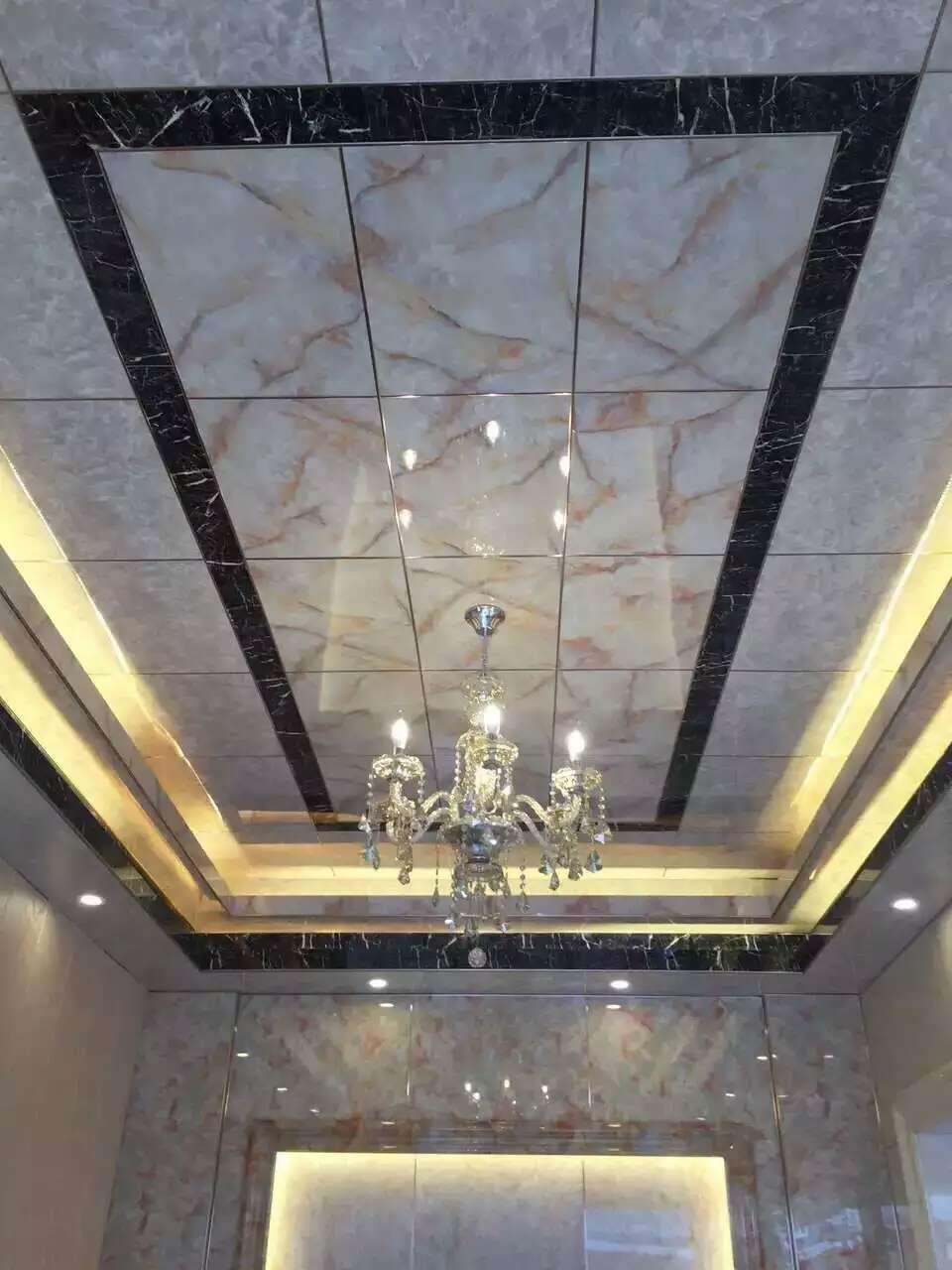 PVC石塑装饰板生产线PVC仿大理石装饰板生产设备微晶石UV板生产机器设备4