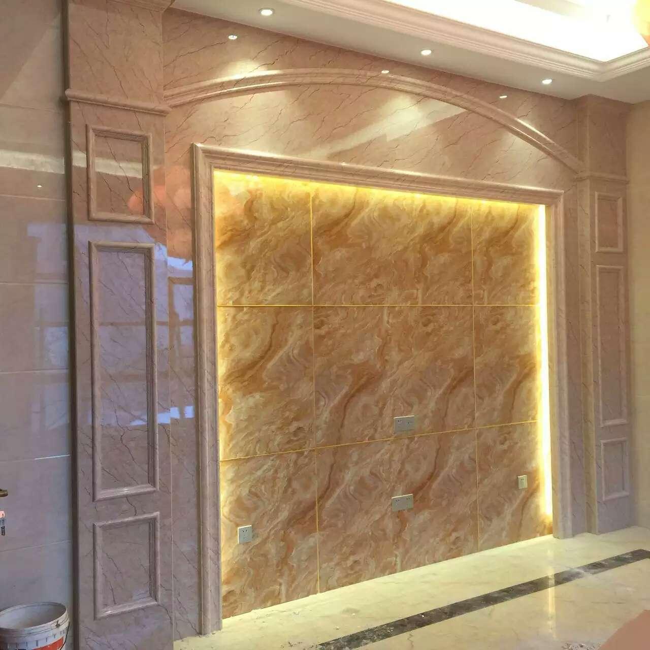 PVC石塑装饰板生产线PVC仿大理石装饰板生产设备微晶石UV板生产机器设备3