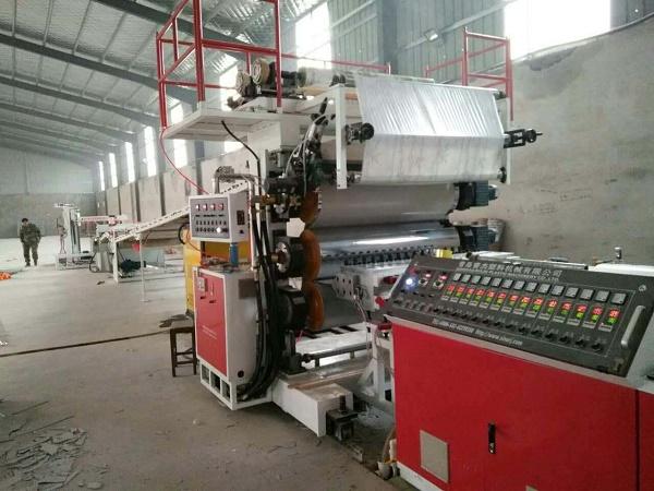 PVC石塑装饰板生产线PVC仿大理石装饰板生产设备微晶石UV板生产机器设备1