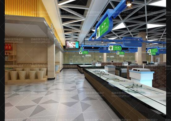 2019.12.24温州农贸市场设计的摊位柜台分类设计
