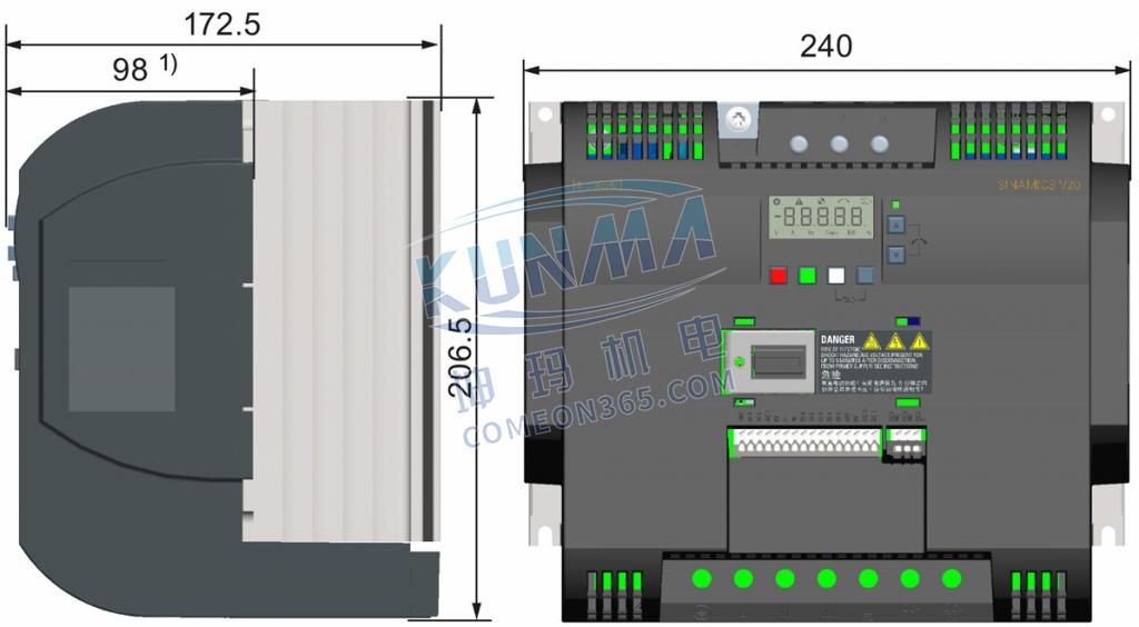 变频器穿墙式怎么安装?