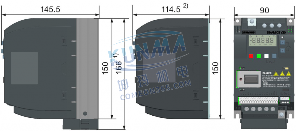 变频器壁挂式安装